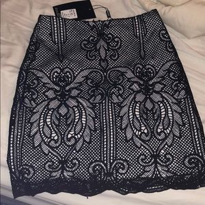 Black misguided skirt